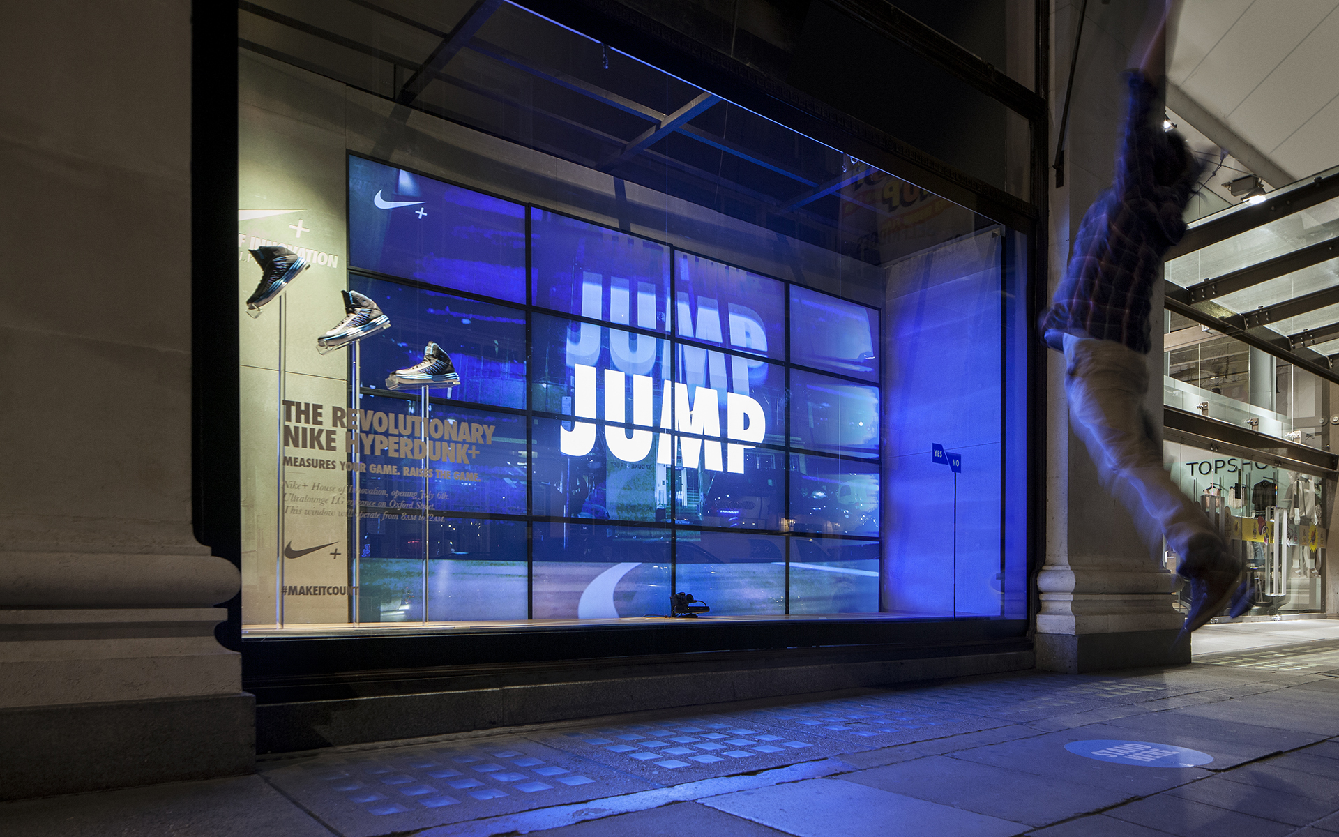 Interactive Nike Advertising At Selfridges Trapped Magazine