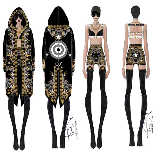 la-modella-mafia-Rihanna-in-a-Custom-Givenchy-by-Riccardo-Tisci-outfit-for-her-2013-Diamonds-World-Tour-4