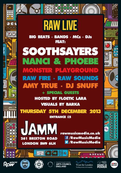 Raw Live flyer