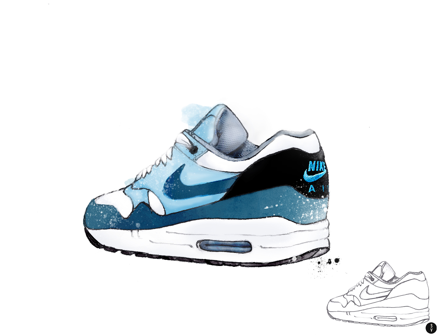 nike sneaker drawing wwwimgkidcom the image kid has it